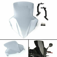 ABS Plastic Windscreen Windshield Shield with Bracket For Honda CB650F14-17 C A0