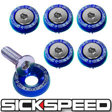 6 PC BLUE 5MM WINDSCREEN FENDER WASHER BOLT KIT MOTORCYCLE M6