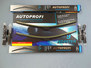 1x Set Windscreen Wiper Front 525mm for Audi Seat Skoda VW Volvo Mercedes