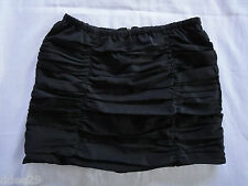 Teen Girls Gathered Black Skirt Size 8