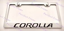 Toyota COROLLA Stainless Steel License Plate Frame Rust Free W/ Bolt Caps