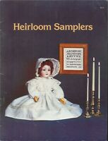 Heirloom Samplers Cross Stitch Pattern Book 1978 Home Sweet Home Wedding Medical