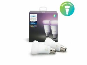 phillips hue  2x single bulb b22
