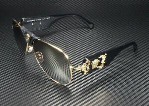 VERSACE VE2150Q 10025A Gold Light Brown Mirror Dark Gold 62 mm Men's Sunglasses