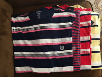 NWT CHAPS Ralph Lauren Men Crew Pocket SS T-Shirt Tee Striped 100% Cotton size S