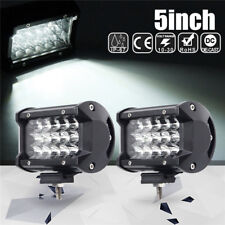 2x168W 5 Inch LED Car Work Light Bar Spot Beam SUV Boat Driving Offroad ATV Lamp