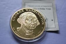 GEORGE WASHINGTON PRESIDENTIAL DOLLAR TRIALS COMMEMORATIVE PROOF COIN COA