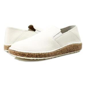 Birkenstock Womens Callan Narrow Suede Shoes White 39/Narrow (C, B) New