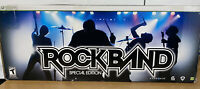 Xbox 360 Rock Band Bundle Wired Drum Set Stratocaster Guitar Mic Hero Pedal