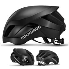 RockBros MTB Road Bike Cycling EPS Integrally Black Helmet 3 in 1 Size 57cm-62cm