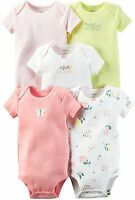 Carter's Baby Girls Multi-Pk Bodysuits 5 PIECES Assorted