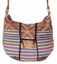 große Peru Tasche Schultertasche bunt gewebt, Manta Stoff, Inka Muster Streifen