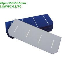20pcs 6X2inch 36W Monocrystalline Silicon Solar Cell for DIY Solar Pane