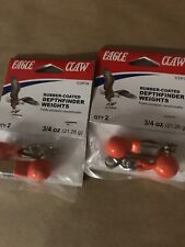4 Packages EAGLE CLAW FISHING BOTTOM FINDER (2 PACK) - 8 FINDERS IN TOTAL! 3/4oz