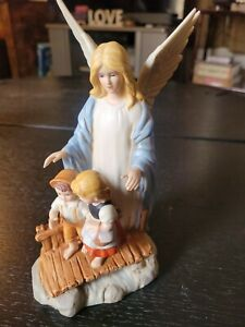 Home Interior HOMCO ~ 8772 ~ Guardian Angel figurine ~ New Vintage in box 1995