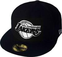New Era Los Angeles Lakers Black Bianco Logo Cap 59fifty Fitted