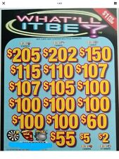 'What'll It Be' Pull Tab Tickets   $925 Profit   3185 Tickets