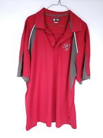 NFL Team Apparel Mens Size XL Red Brown Polo Shirt Tampa Bay Buccaneers SS
