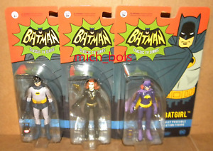 "CATWOMAN BATGIRL BATMAN Classic Adam West 1966 TV Series 3.75"" DC Funko ReAction"