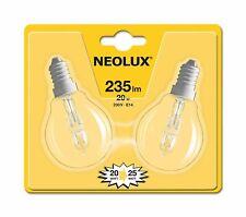 2 x Neolux Eco Halogen Tropfen Classic P 20W = 25W E14 klar warmweiß dimmbar
