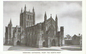 Herefordshire Postcard - Cathedral from The North West - Hereford - Ref TZ5755