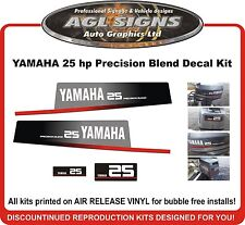 Yamaha 25 HP Precision Blend Outboard Decal Kit  reproductions 30 hp