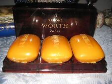 3 Very Rare Vtg Faux Tortoise Je Reviens by Worth Perfumed Soaps Each 3 3/4 oz