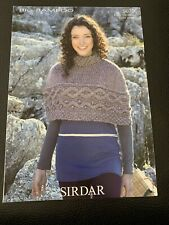 """Sirdar Big Bamboo Ladies Cabled Cape Knitting Pattern 9670 Sizes 32-42"""""""