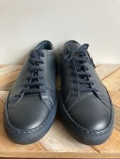 Common Projects Men's Achilles Leather Low-Top Sneakers Navy Size 11 US