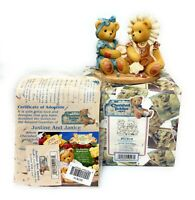 Cherished Teddies 537810 Justin & Janice, Two Sisters Sewing, Double Figurine