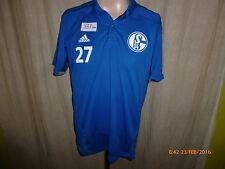 FC Schalke 04 Original Adidas Spieler Polo- Hemd 2014/15 + Nr.27 Gr.M