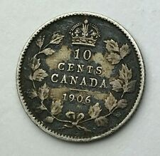 Dated : 1906 - Silver Coin - Canada - 10 Cents - Ten Cents - King Edward VII