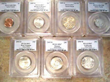 ONE BID FOR 7 PCGS COIN SATIN PROOF SET! 2005-D PCGS SP67 INCLUDING SACAGAWEA $1