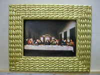 JESUS THE LAST SUPPER ON CANVAS WITH FRAME REPO DAVINCI ART OIL PAINTING GIFT