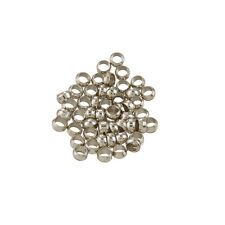 Platinum Colour Brass Crimp Beads Jewellery Making 3mm PK50 (L76/4)