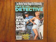 """Nov, 1980 """"Official Detective"""" Mag(CAREY MOORE/MARTIN STEBLER/FORREST RICHARDSON"""