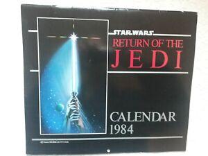 STAR WARS Return of the Jedi 1984 Calendar
