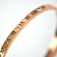 Women's Fashion Stainless Steel Bracelet Roman Numerals Titanium Bangle