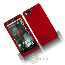 Motorola MB810 Droid X/X2 Shield Red Rubberized Case Cover Shell Protector Guard