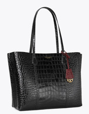 Tory Burch Perry Tote Bag Triple Compartment Black Authentic