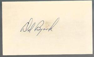 Oregon Chicago Bears Del Bjork (d.88) Signed Auto Vintage 3x5 Index Card TOUGH