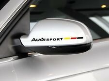 Una COPPIA sorprendente REARVIEW MIRROR ADESIVI auto decalcomanie grafiche per Audi (Nero)
