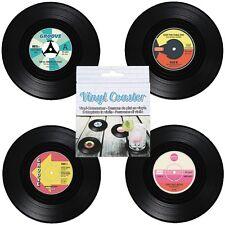 Vinyl-Untersetzer-Set im coolen Schallplatten-Design Ø ca. 11 cm - 4-teilig