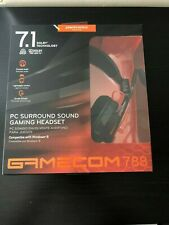 NEW PLANTRONICS GAMECOM 788 USB GAMING STEREO HEADSET 7.1 SURROUND SOUND FOR PC