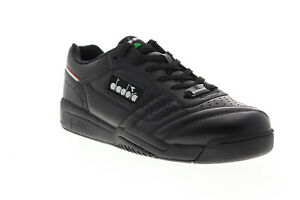 Diadora Action 175361-C0641 Mens Black Leather Lifestyle Sneakers Shoes