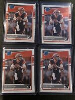(4) 2020 Donruss Optic Joe Burrow Rated Rookie RC Base Lot #151 Bengals