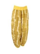Lagenlook Tie Dye Linen Harem Mustard Yellow Trousers