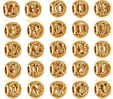 Genuine PANDORA Vintage Alphabet Letter Openwork Charm 14K Gold Vermeil 791845CZ