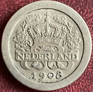 Netherlands - 5 Cents Coin - 1908 (GY9)