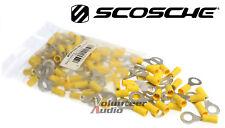 "Scosche Vinyl Ring Terminal Yellow 5/16"" 12-10 Gauge 100 Pieces/bag"